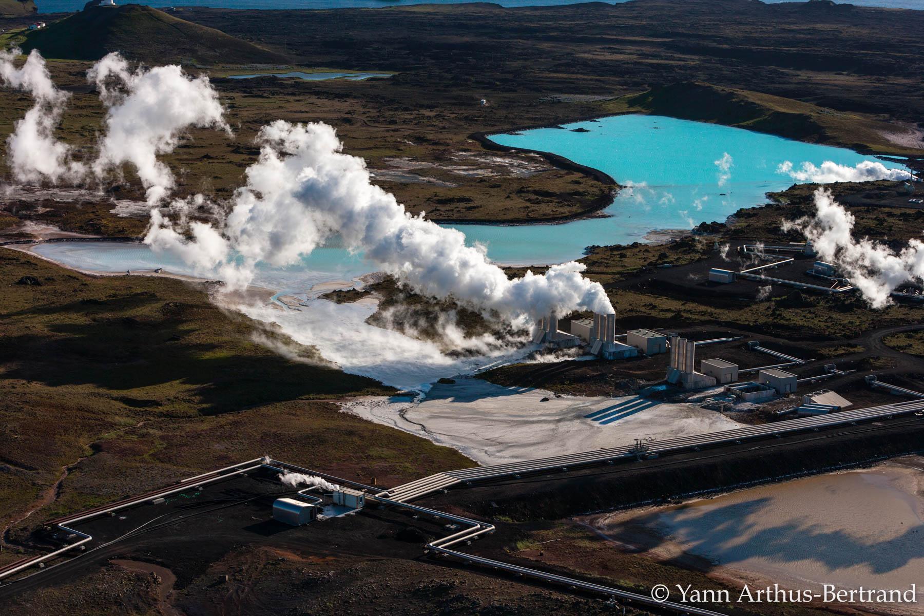 Centrale géothermique en Islande