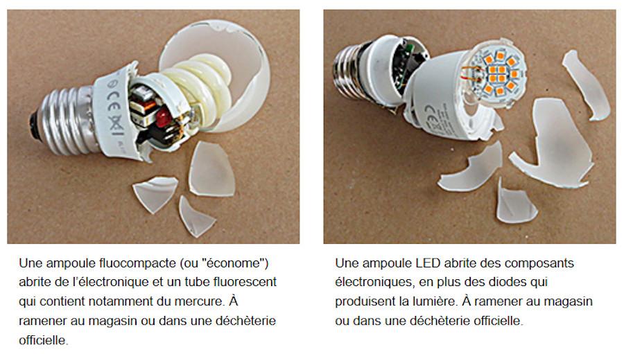 Ampoule fluocompacte recyclage