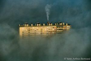 Un immeuble du quartier de la Croix-Rousse à Lyon, Rhône. © Yann Arthus-Bertrand