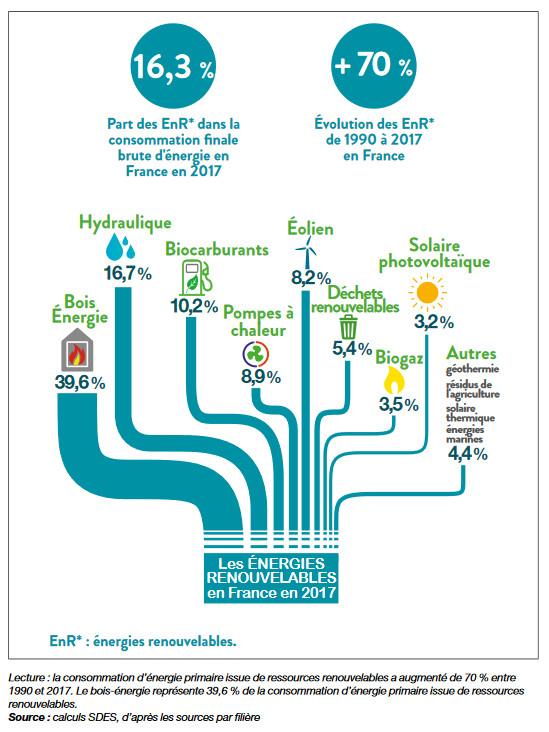 Données clés des énergies renouvelables