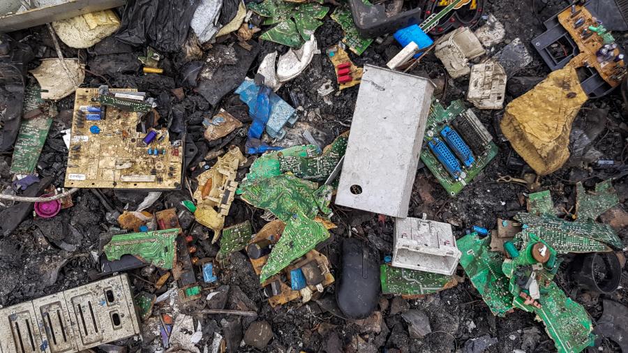 Décharge au Ghana, déchets électroniques