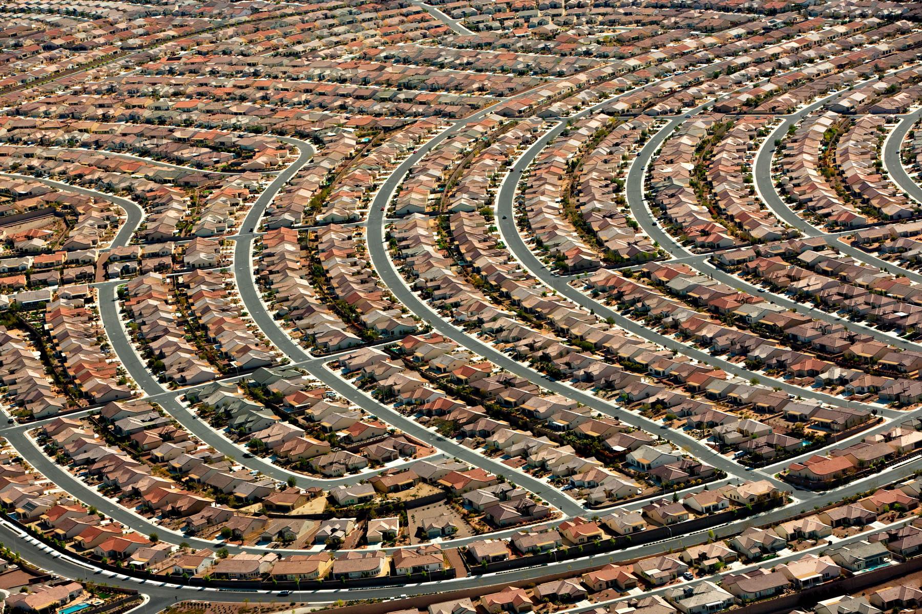 Un lotissement américain à Henderson, dans la banlieue de Las Vegas (Nevada)