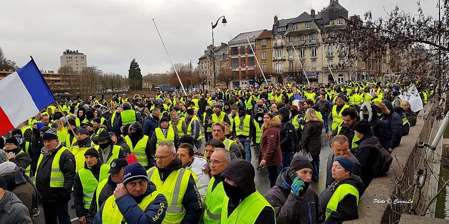 Manifestation de gilets jaunes, Charleville-Mézières, 5 janvier 2019
