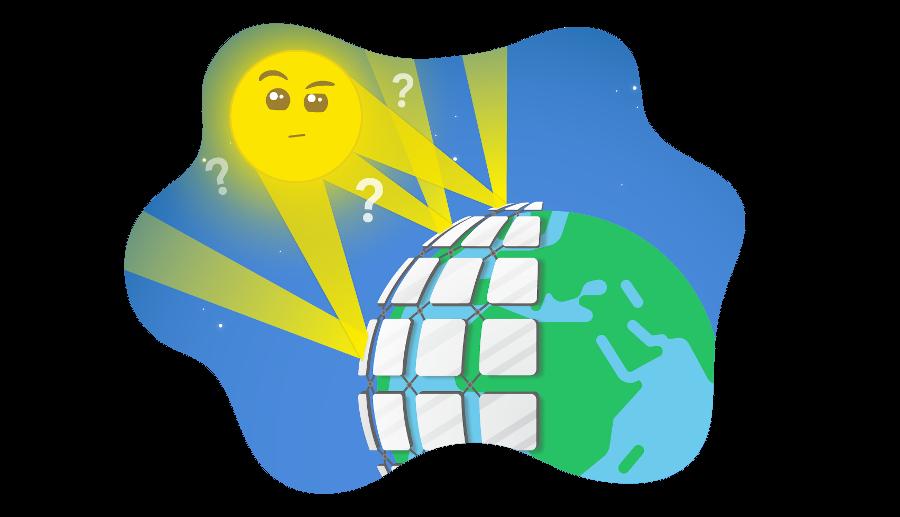 Sunny et les miroirs dans l'espace