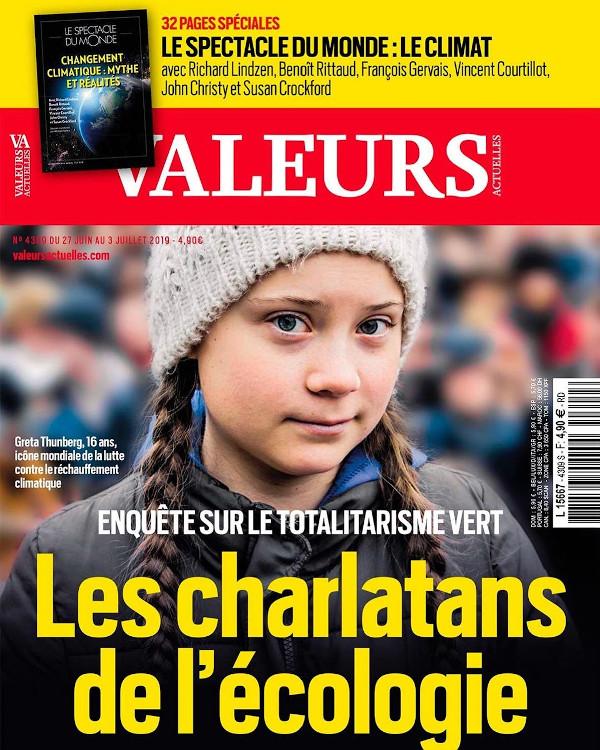 La Une de l'hebdomadaire français Valeurs Actuelles du 27 juin 2019